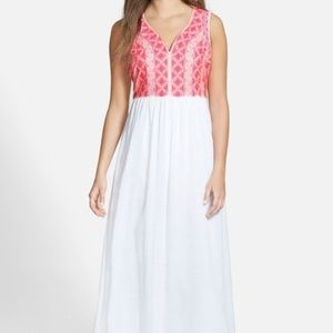 Vineyard Vines Embroidered Bodice Maxi Dress Cute